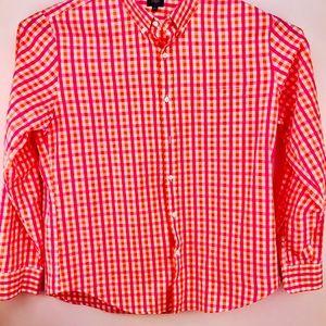 j Crew Checker Long Sleeve Shirt
